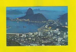 AIRLINE ISSUED PAN AM BRAZIL RIO DE JANEIRO AIRPLANE 70 Brasil Clipper Air Route - Postcards