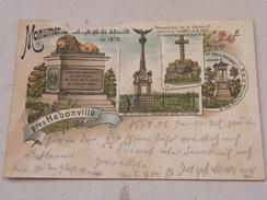 P Carte Postale Monuments Des Champs De Bataille 1870 Près Habonville 1902 - Autres Communes