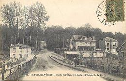 - Dpts Div.- Ref-VV626- Yvelines - Velizy Chaville -route Etang Saint Denis Et Entree De La Foret - Bois Et Charbons - - Velizy
