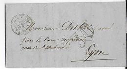 LOIRE - 1853 - LETTRE De SAINT JEAN SOLEYMIEUX Avec T22 + TAXE 30 => LYON - IND 15 (140 EUR) - 1849-1876: Période Classique