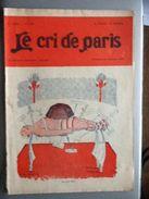 Le Cri De Paris Decembre 1928 Le Vrai Fakir Impots Taxes - Livres, BD, Revues