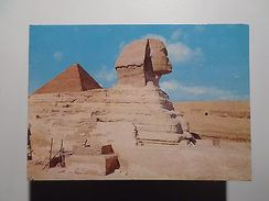 AFRICA AFRIKA AFRIQUE EGYPT EGYPTE GIZA SPHINX & PYRAMID OF CHEOPS 1960 YEARS PC - Postcards