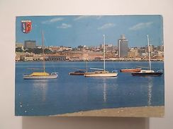 AFRICA  AFRIKA AFRIQUE ANGOLA LUANDA PARTIAL VIEW & BOAT BOATS 1960s POSTCARD - Postcards