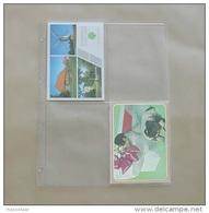 25  Feuilles Transparentes Pour 4 Cartes Postales - Matériel