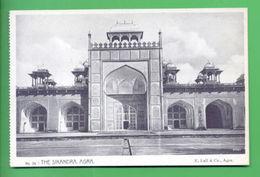 ASIA BRITISH INDIA AGRA THE SIKANDRA VIEW 1910 YEARS PC - Postcards