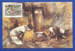 ART MAXICARD MAXIMUM POSTCARD AFRICA VENDA ETHNIC AFRIKA AFRIQUE - Stamps