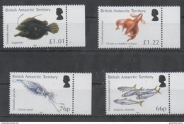 BRITISH ANTARCTIC TERRITORY, BAT,2016, MNH, MARINE LIFE, FISH, SQUID, OCTOPUS, 4v - Fishes