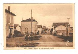 CPA 40 SABRES Quartier De La Bastide Femmes Magasin à Gauche Maisons  1943 Peu Commune - Sabres