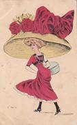CPA Femme Lady Glamour Donna Mode Chapeau Hat Illustrateur G. MOUTON - Andere Illustrators