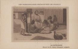 Afrique - Madagascar - Missions Religion - Peinture - Tableau De Frère Isfrid - Enfants Prêtre Catéchisme - Madagascar
