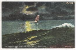 A Moonlit Sea From The Needles, Isle Of Whight - Angleterre