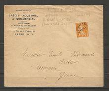 Enveloppe Avec Préoblitérés De 1922/47 Semeuse De 5 C - Lettres & Documents