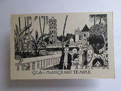 ART POSTCARD GOA Ex PORTUGUESE INDIA PANJIM - HINDU MANGESHI TEMPLE - Unclassified