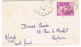 811 GANDON SEUL SUR MIGNONNETTE 1ER JANVIER 1949 - Postmark Collection (Covers)
