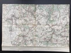 Topografische En Militaire Kaart STAFKAART 1909 Thuin Gozee Grandrieu Silenrieux Walcourt Nalinnes Beaumont Erpion - Cartes Topographiques