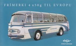Iceland 2013 Booklet Of 4 Mercedes Benz 1957, Bedford 1955 Vintage Trucks - 1944-... Republique
