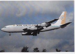 Postcard - Aircraft -AIR CEYLON - Type- Boeing  B720-023B. - 1946-....: Modern Era