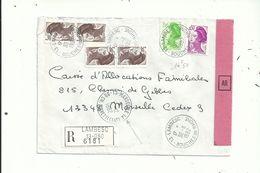 """2 LR Avec  6 Et 5  """"Liberté"""" à 14.50fr.et 19.50fr.....avec CACHET D'ARRIVEE (noir)  Et (rouge) Au Recto.......à Voir.... - Marcophilie (Lettres)"""