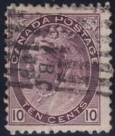 Canada    .    SG   .      163    .       O      .     Gebruikt   .    /      .        Cancelled - 1851-1902 Regering Van Victoria