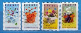 Francia ° - 2007-   Yvert  4082-4083-4084-4085.   Oblitéré.   Vedi Descrizione. - Usados