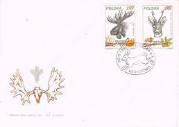 26426. Carta WARSZAWA (Polska) Polonia 1981. Ciervos, Liebres, Caza - Animalez De Caza
