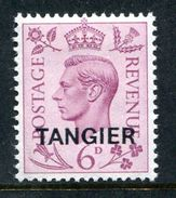 Morocco Agencies - Tangier - 1949 KGVI GB Overprints - 6d Purple LHM (SG 266) - Morocco Agencies / Tangier (...-1958)
