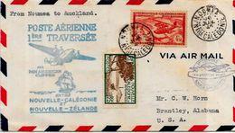 Enveloppe Marcophilie Nouvelle Calédonie Aviation 1940 Nouvelle Zélande - Nueva Caledonia