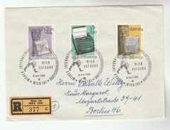 1965 REGISTERED ' WIPA' AUSTRIA Special COVER  Stamps WIPA ANCIENT WRITING ,TYPEWRITER  Cover Archaeology - Archaeology
