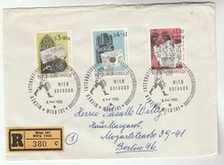 1965 REGISTERED ' WIPA' AUSTRIA Special COVER Stamps WIPA ANCIENT EGYPT HIEROGLYPHS, Historic Letter Writing Cover - Egyptology