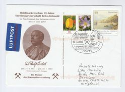 2007 Zeit MINING Carl RIEBECK EVENT COVER Postal STATIONERY Uprated GERMANY Stamps Minerals Energy - Minéraux