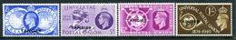 Morocco Agencies - Tangier - 1949 KGVI GB Overprints - 75th Anniversary Of UPU Set HM (SG 276-79) - Morocco Agencies / Tangier (...-1958)