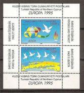 1995 Cipro Turca Turkish Cyprus EUROPA CEPT EUROPE Foglietto MNH** Souv. Sheet - 1995