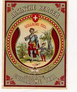 Etiquette Originale Ancienne 9,5 X 12,5 Absinthe BERGER Marque Guillaume TELL Déposé (2 Scans) - Alcohols