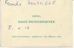 HOTEL HAUS HEIDENHOFFER - FLINTSBACH - Autres Collections