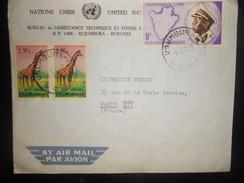 Burandi Lettre De Bujumbura 1964 Pour Paris - Burundi
