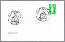 Astronautas Franceses: CHRETIEN - TOGNINI - BAUDRY. Mantes La Jolie 1993 - FDC & Commémoratifs