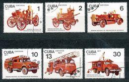 Kuba. - Mi.Nr.  2224 - 2229     - Gestempelt   Feuerschutzwoche - Kuba