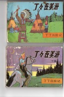 Tintin En Amérique - 2 Volumes En Chinois - Livres, BD, Revues