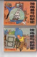 Le Secret De La Licorne - 2 Volumes En Chinois - Comics (other Languages)