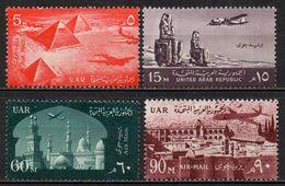 Egypte - Poste Aérienne - 1959/60 - Yvert : PA 81 à 84 ** - Série Courante - Poste Aérienne