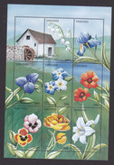 Tanzania, Scott #1514-1515, Mint Never Hinged, Flowers, Issued 1996 - Tanzania (1964-...)