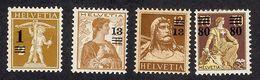 SUISSE 1914   Yv 145*-146*-147**-148*  Mi 124*-125*-126**-127* - Suisse