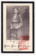 DP Foto Valerie Flavie Verhaeghe / Bintein 14j. ° Ste Catherine Sint-Katelijne-Waver ? 1898 † 1913 - Devotion Images