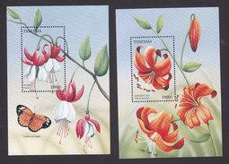 Tanzania, Scott #1516-1517, Mint Never Hinged, Flowers, Issued 1996 - Tanzania (1964-...)