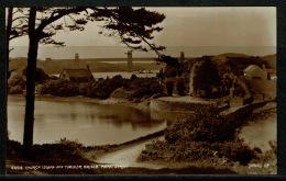 RB 1179 - Judges Real Photo Postcard Church Island & Tubular Bridge Menai Strait Anglesey Wales - Anglesey