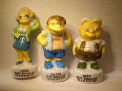 Lot De 3 Féves. Les Simpson à L'école 2012. Fève Ancienne (TPL4.1) - Cartoons