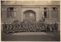 Photo Souvenir Groupe Militaire Luther Schule De L'officier Caron De Gand - Guerre, Militaire