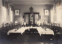 Photo Souvenir Mess Groupe Militaire De L'officier Caron De Gand - Guerre, Militaire