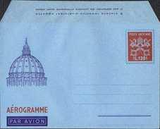 """INTERO POSTALE VATICANO - AEROGRAMMA / AEROGRAMME - PAOLO VI L. 130 - 1966 - CATALOGO FILAGRANO """"A9"""" - NUOVO ** - Interi Postali"""