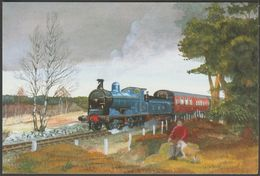 J Mathews - Railways, Scottish Visitor - Alternative Card Co Postcard - Trains